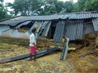 खरसावा में हाथियों का उत्पात, कई घर तोडे़