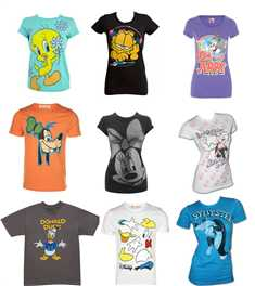 All time favourite Cartoon t shirts