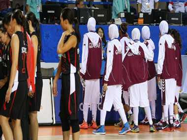 Qatar basketball team stopped playing with traditional cloth