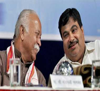 Gadkari meets RSS chief, says no discussion on Maha politics
