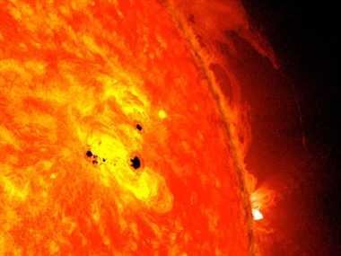 nasa discovered spot on sun