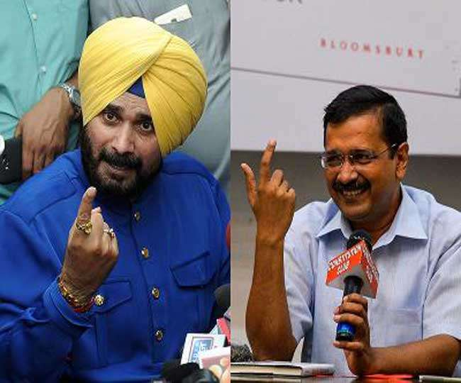 Navjot singh Sidhu again in touch with AAP