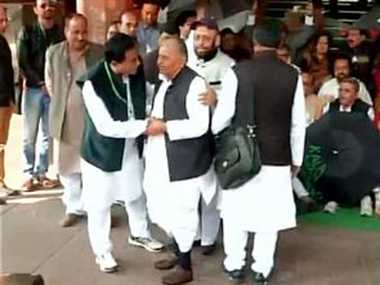 TMC leaders protest at Parliament gate over black money issue