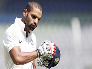 Shikhar dhawan fail against ca eleven in practice match
