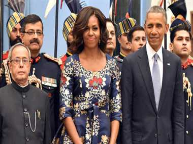 Rashtrapati Bhavan looks spectacular with lights on: Obama