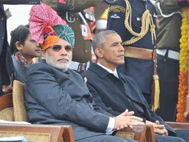 barack Obama in India joins Modi at Delhi Republic Day parade