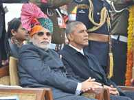 barack Obama in India joins Modi at Delhi Republic Day parade