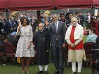 Modi cabinet was present in the president house with Barack Obama
