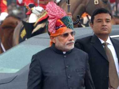 Modi strolls on Rajpath after republic day parade