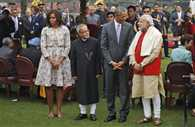 Barack obama at home in rastrapati bhavan finished