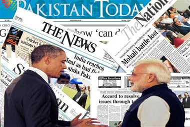pakistan media warns india on obama visit