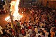 Holika Dahan was cautious about police