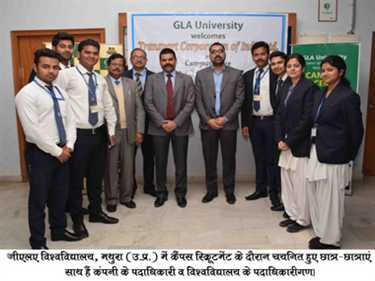 86 percent mba Student of gla university placed