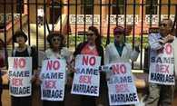 protests against gay marriage In US