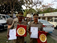 सम्मानित किए गए कोतवाली प्रभारी समेत तेरह पुलिसकर्मी