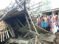 The storm killed two in Bihar, alerts
