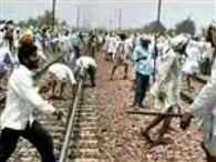 Railway and traveller both are in trouble due to gujjars movement