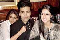 Shweta Bachchan with daughter Navya at Karan Johar birthday bash