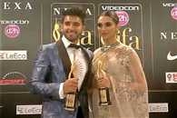 Ranbir singh grabed best actor and dipika got best actress award in iifa