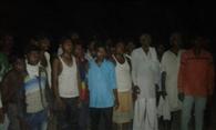 गोवंशीय पशु काटने पर नदेरी गांव में तनाव