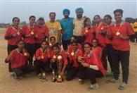 लड़कों की टीम में हरियाणा, लड़कियों में पंजाब विजेता