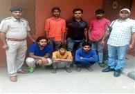 सेंधमारी करने वाले छह बदमाश गिरफ्तार