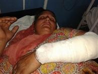 जमीन विवाद में महिला को किया घायल