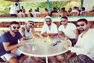 Indian cricket team players share some pictures on social sites