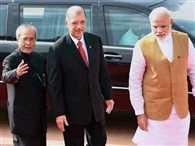 Seychelles President meets PM Narendra Modi at Hyderabad House