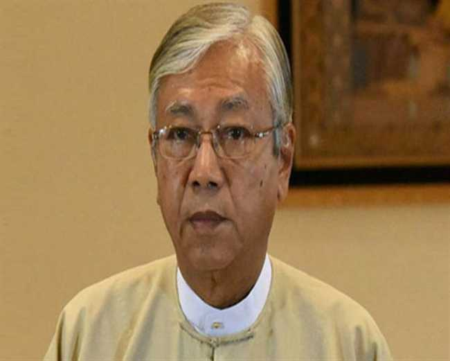 myanmar president will arrive arrive bodhgaya today