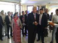 myanmar president  arrived  bodhgaya will prayer in mahabodhi temple