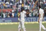 Ravindra Jadeja scored a half century in first Test Green Park Kanpur stadium