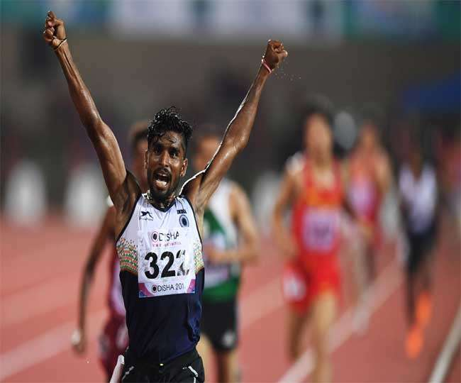 लक्ष्मणन ने राष्ट्रीय ओपन एथलेटिक्स चैंपियनशिप में जीता स्वर्ण