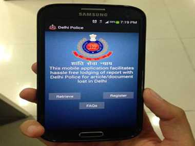 delhi police lost report application goes hit in public