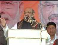 24 hrs electricity, clean drinking water,toilet facilities in your villages?:Amit Shah at a rally in Simdega,Jharkhand