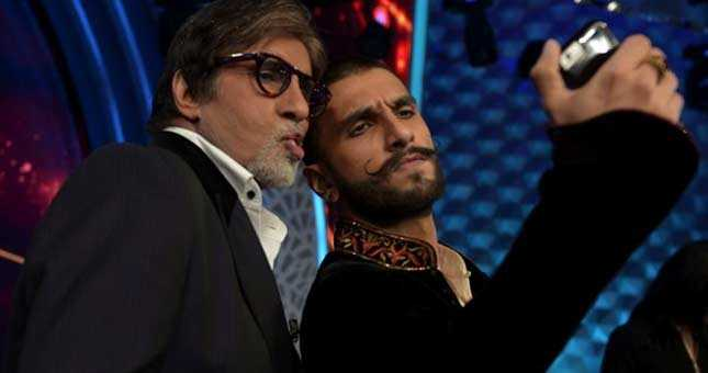 Big B makes dubsmash video with Ranveer Singh dialogue in Bajirao Mastani