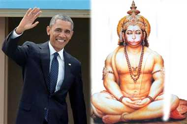 kashi saint appreciate obama to worship of lord hanuman