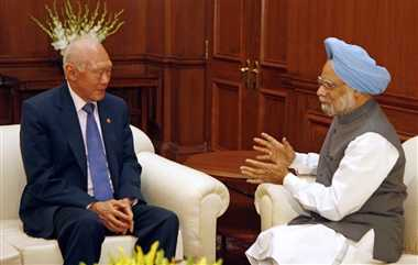 manmohan singh was discuss problem of china from lee kuan