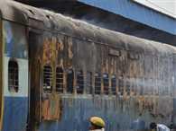Fire in Saket Express train