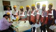 ठेका श्रमिकों के लिए आरएसपी में स्वास्थ्य परीक्षण