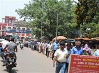 दूसरे दिन भी जारी रहा रेलवे र¨नग स्टाफ का आंदोलन