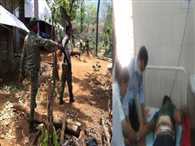 four soldiers injured in naxal attack at narayanpur