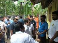 Congress VP Rahul Gandhi meets fishermen in Thrissur, Kerala