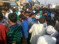 young man died by JCB Collision, peopleblock road