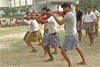 Self defence camp organized by Bajrang Dal in Noida