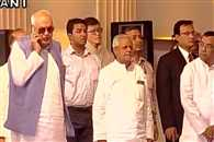 Farooq Abdullah was talking on phone during national anthem