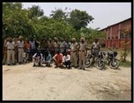 चोरी के छह मोटरसाइकिलों सहित दो युवकों को दबोचा, केस दर्ज