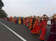 कलशयात्रा के साथ महारुद्र यज्ञ शुरू