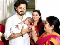 Sreesanth's 'lucky' daughter to be named next month