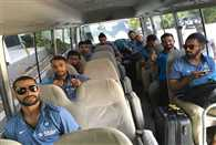 The Indian team has arrived in Kingston for the second Test match